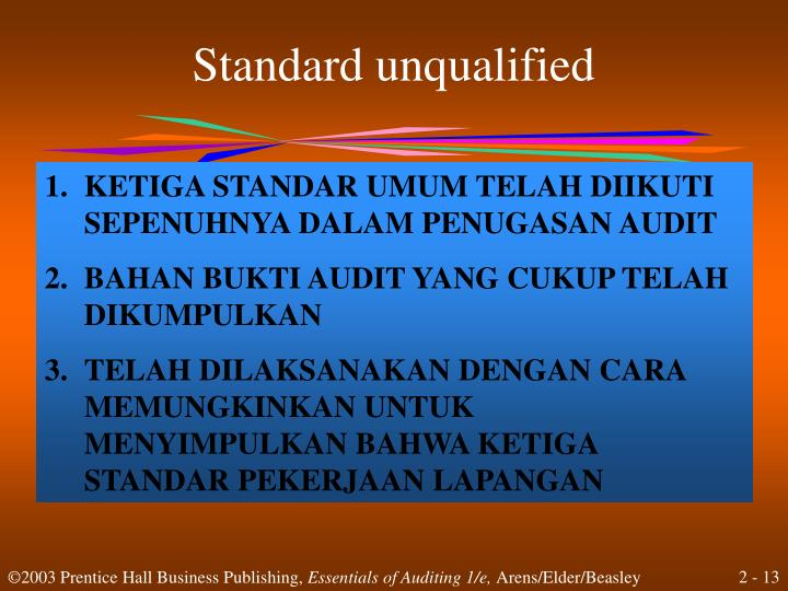 Standard unqualified