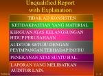 unqualified report with explanation