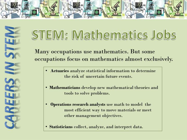 STEM: Mathematics Jobs