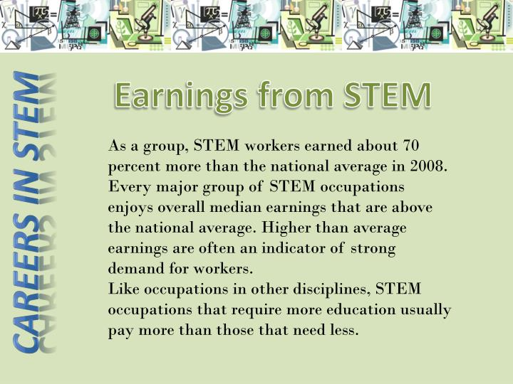 Earnings from STEM