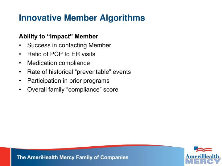 Innovative Member Algorithms