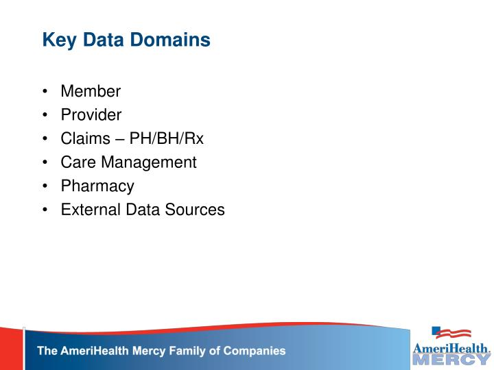 Key Data Domains