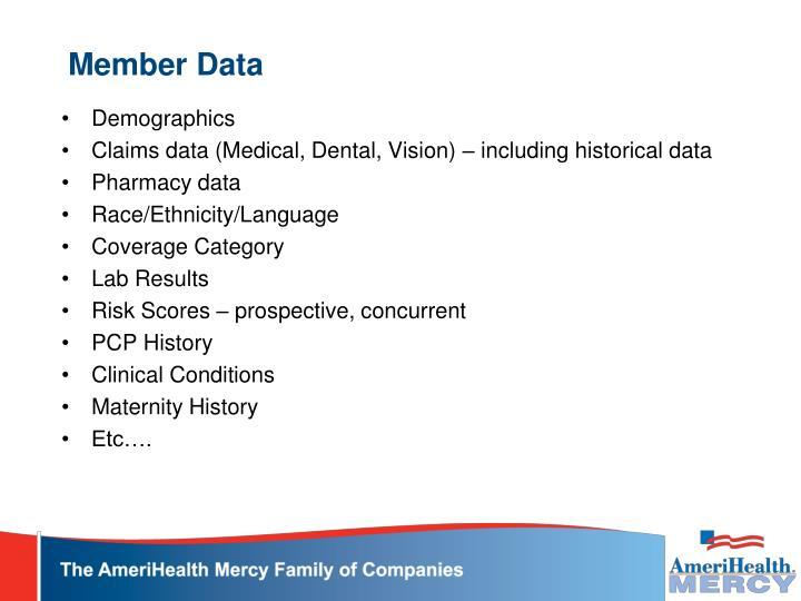 Member Data