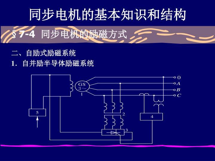 同步电机的基本知识和结构