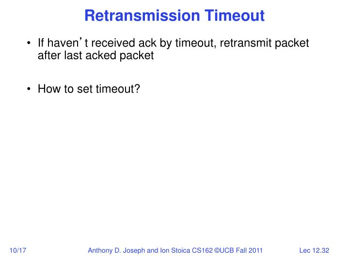Retransmission Timeout