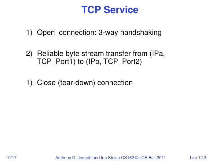 TCP Service