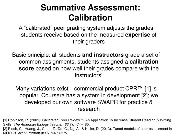 Summative Assessment: