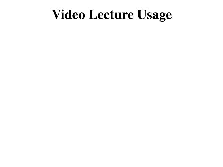 Video Lecture Usage