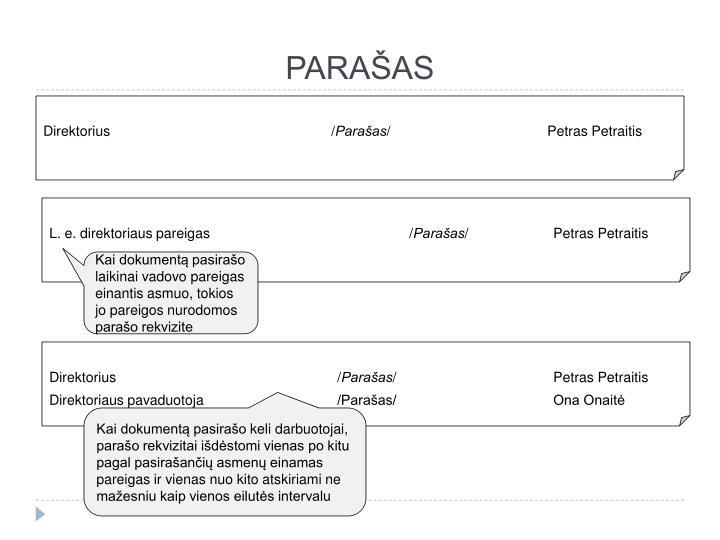PARAŠAS