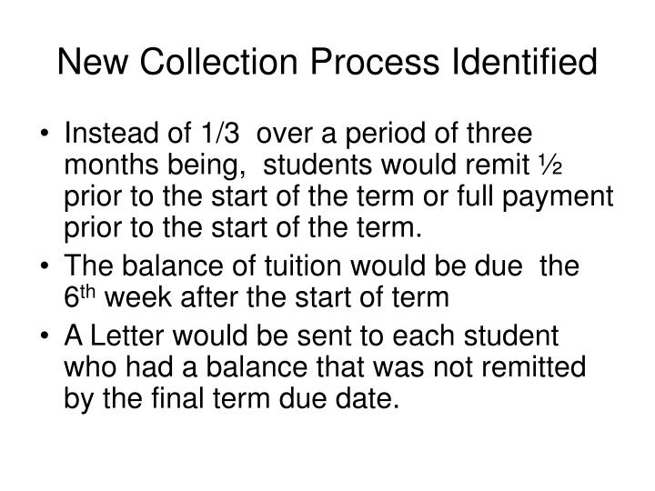 New Collection Process Identified