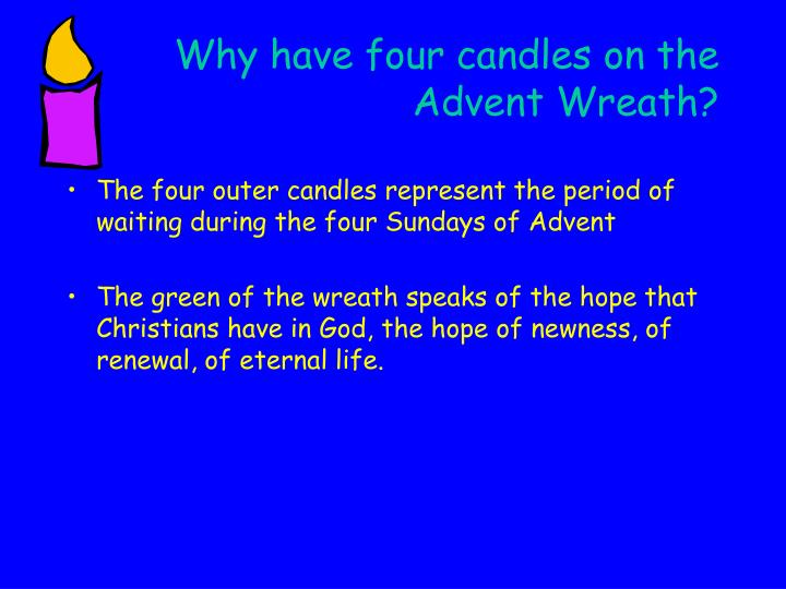 Why have four candles on the  Advent Wreath?