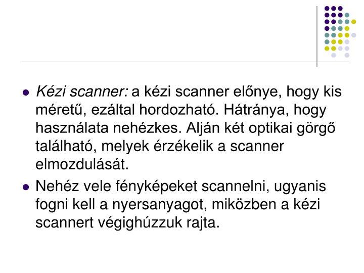 Kézi scanner: