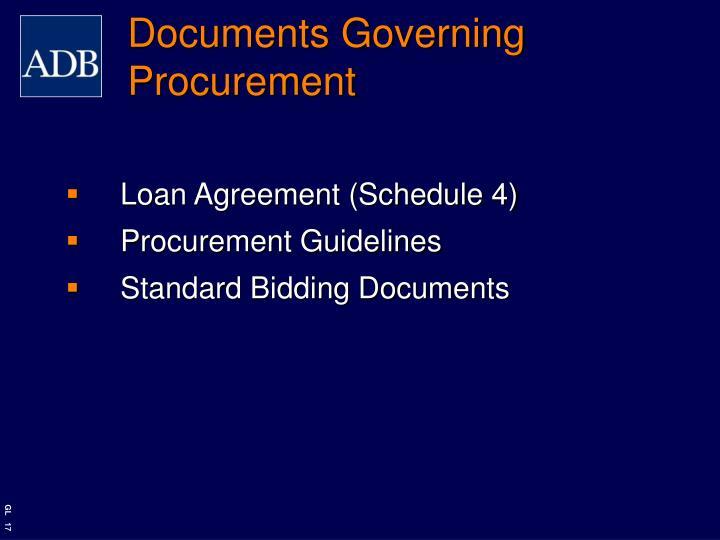 Documents Governing Procurement