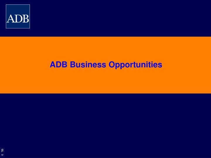 ADB Business Opportunities