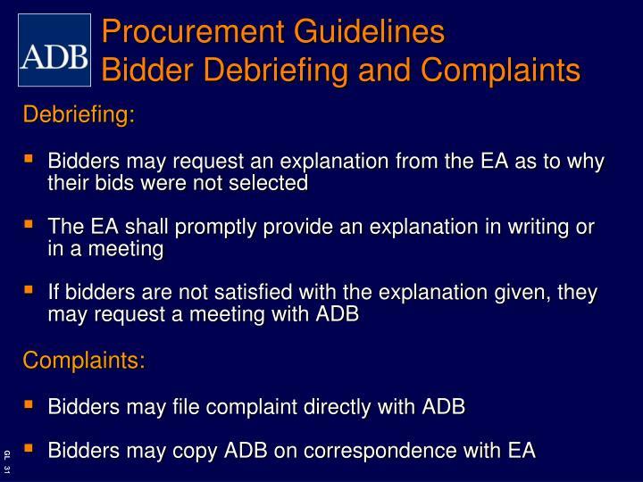 Procurement Guidelines