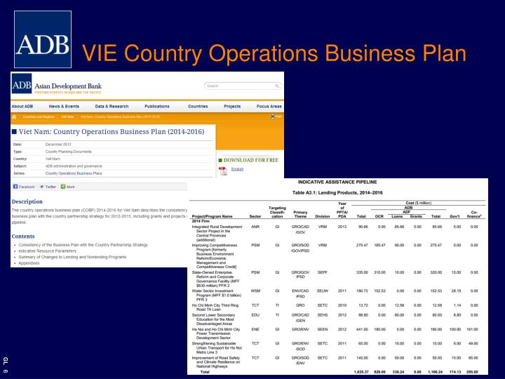 VIE Country Operations Business Plan