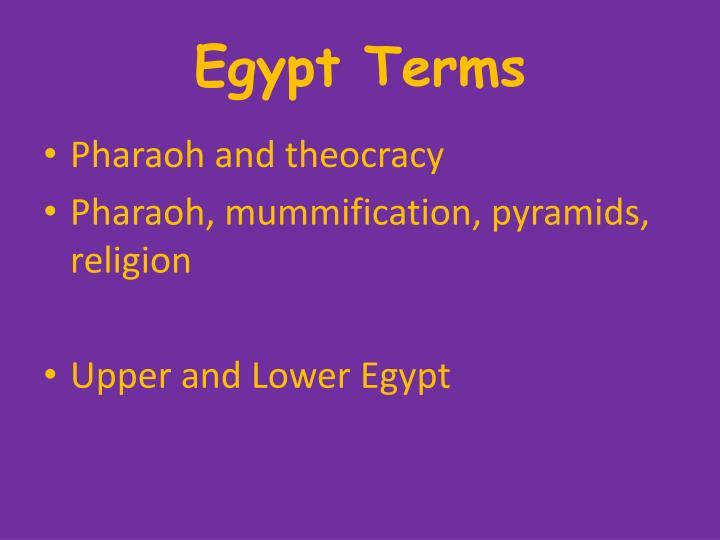 Egypt Terms