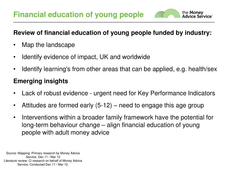Financial education of young people