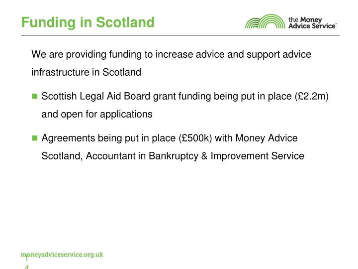 Funding in Scotland