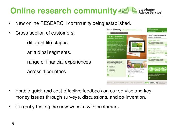 Online research community