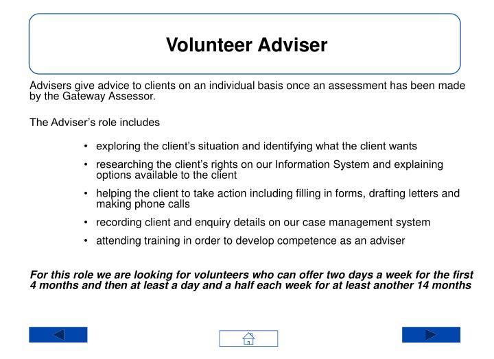 Volunteer Adviser