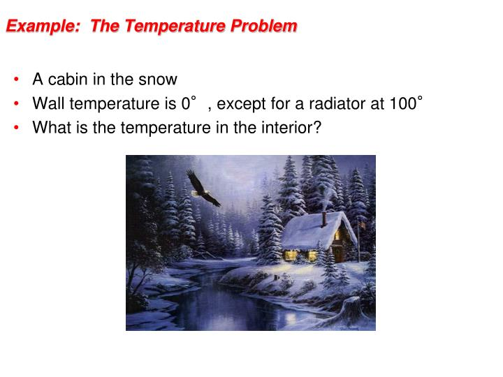 Example the temperature problem