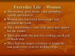 everyday life women