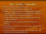 mrs cristi cherokee