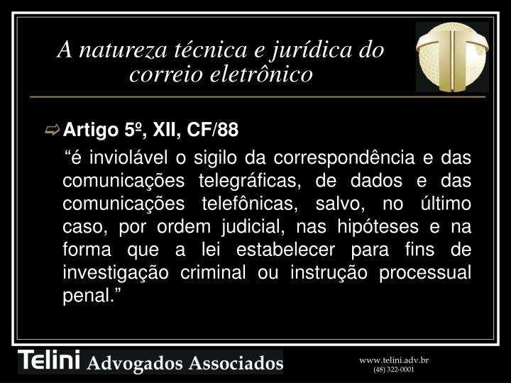 Artigo 5º, XII, CF/88