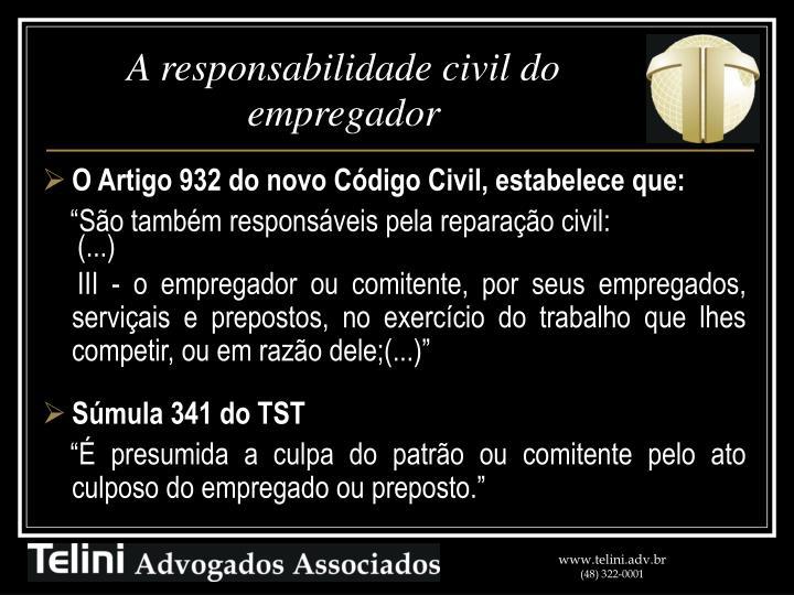 A responsabilidade civil do empregador
