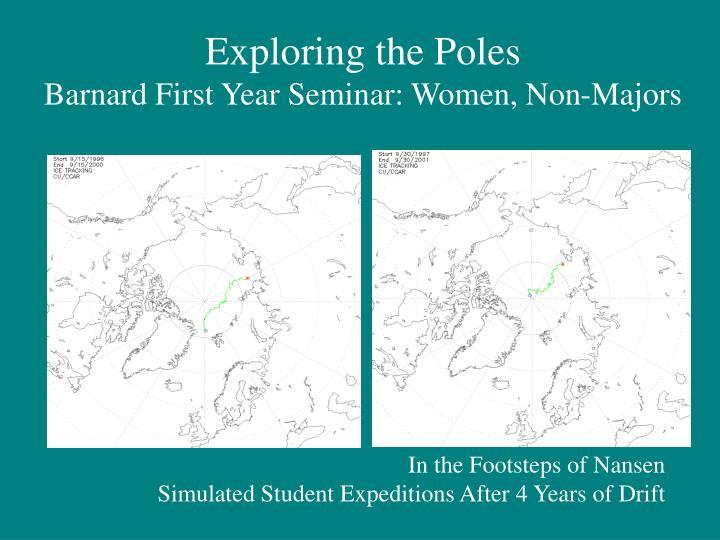Exploring the Poles