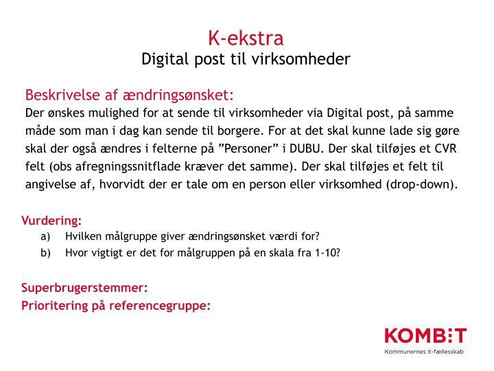 K-ekstra