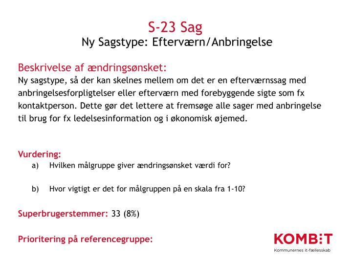 S-23 Sag