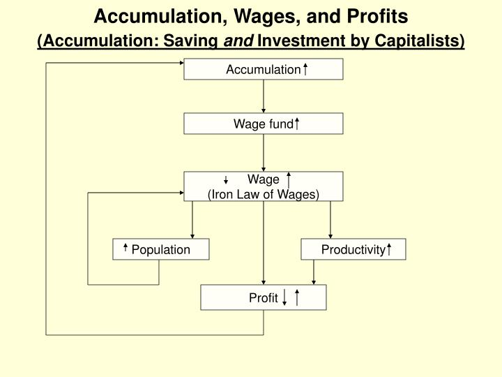 Accumulation, Wages, and Profits