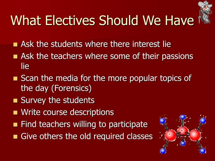 What Electives Should We Have