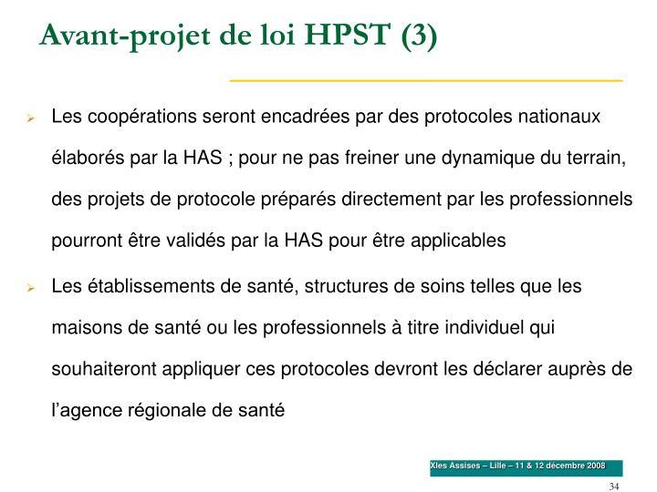 Avant-projet de loi HPST (3)