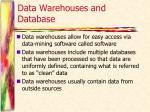 data warehouses and database1