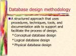database design methodology