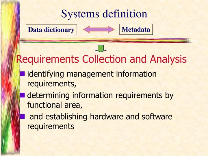 Systems definition
