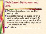web based databases and xml