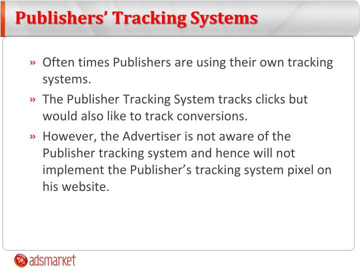 Publishers' Tracking Systems