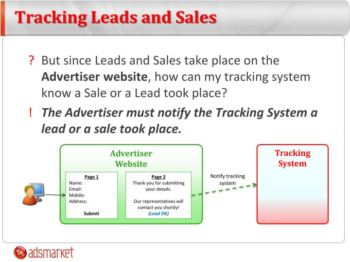 Tracking Leads and Sales