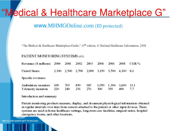 """Medical & Healthcare Marketplace G"""