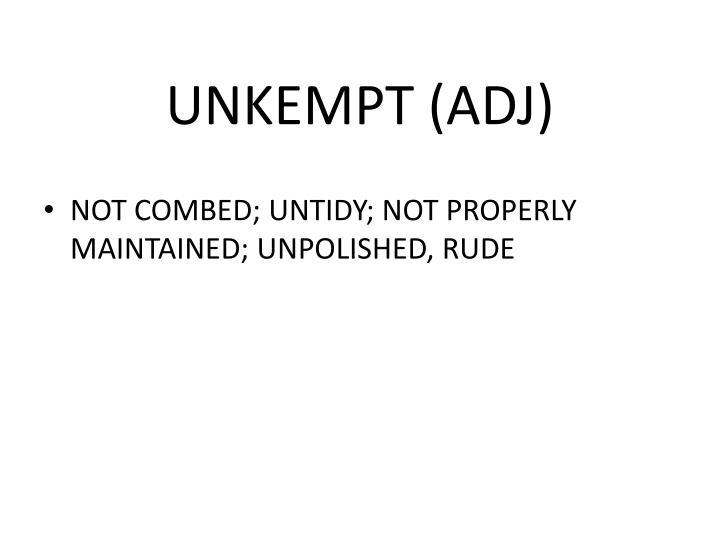 UNKEMPT (ADJ)