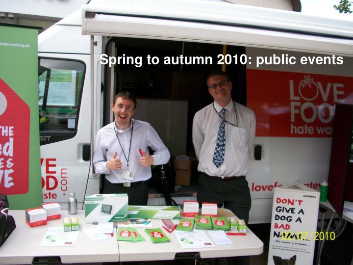 Spring to autumn 2010: