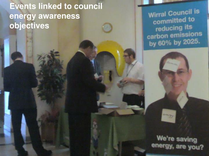 Events linked to council energy awareness objectives