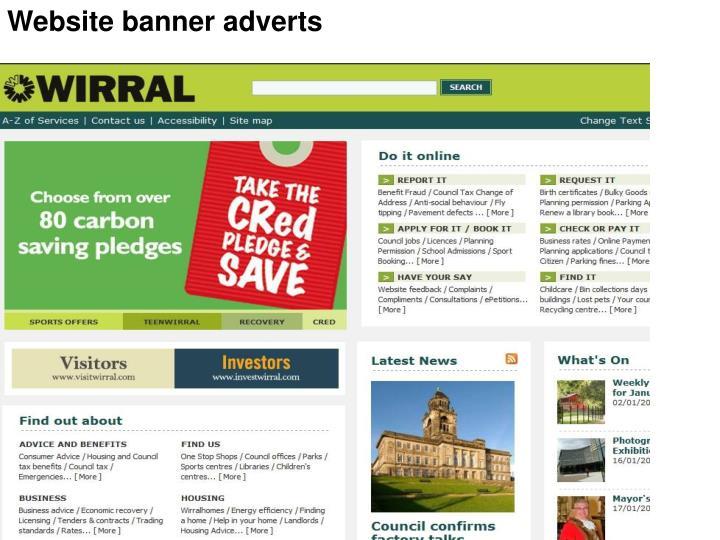 Website banner adverts