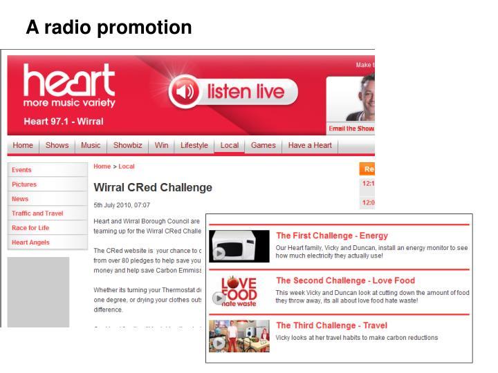 A radio promotion