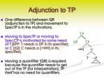 adjunction to tp1