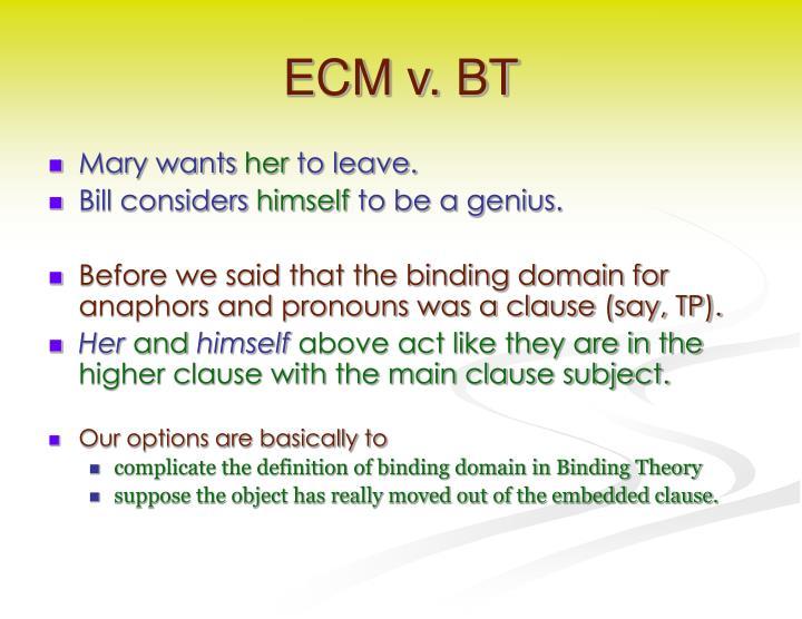 ECM v. BT